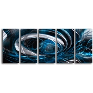 'Whirlpool Mystery' Handcrafted 5-piece Metal Wall Art Set