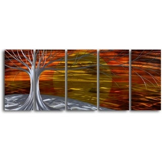 'Burning West' Handcrafted 5-piece Metal Wall Art Set