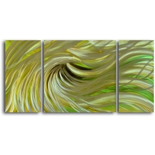 'Blond Waves' Handcrafted 3-piece Metal Wall Art Set