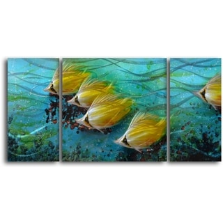 'Just Keep Swimming' Handcrafted 3-piece Metal Wall Art Set