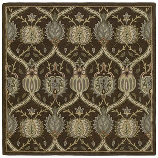 Hand-tufted Brown William Morris Rug (11'9 x 11'9)