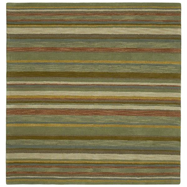 "Scarlett Multi Stripes Hand-Tufted Rug - 11'9"" Square"