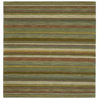 Scarlett Multi Stripes Hand Tufted Rug 9 9 X 9 9 Square