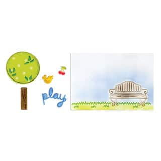 Sizzix Framelits Playing in the Park Die/ Textured Impressions Set (5 Pack)