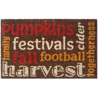 Autumn Spirit Brown Non-slip Coir Doormat (1'11 x 2'4)