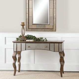 Almont mirrored console table free shipping today 15961720 - Mirrored console table overstock ...