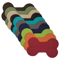 Doggy Days Assorted Color Reversible Dog Bone Rug - 1'6 x 2'6