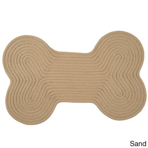 Doggy Days Assorted Color Reversible Dog Bone Rug