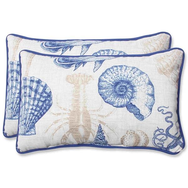 Pillow Perfect Outdoor Sealife Rectangular Throw Pillow (Set of 2)