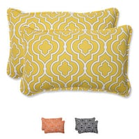 "Pillow Perfect Outdoor Starlet Rectangular Throw Pillow (Set of 2) - 18.5"" x 11.5"""