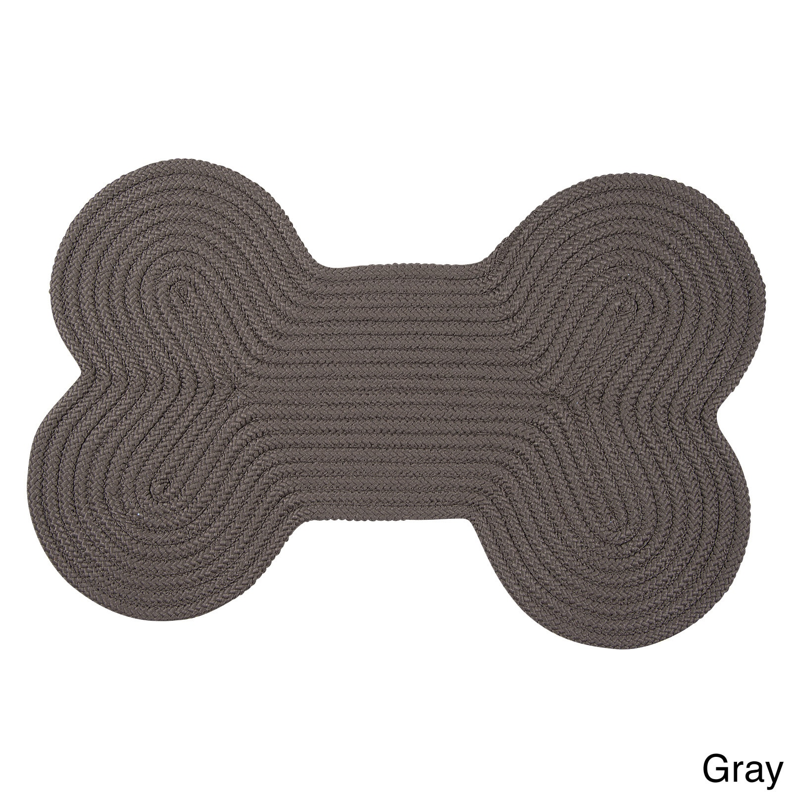 Dog Bone Pet Rug: Doggy Days Reversible Braided Dog Bone Rug