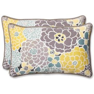 Pillow Perfect 'Full Bloom' Rectangular Outdoor Throw Pillow (Set of 2)