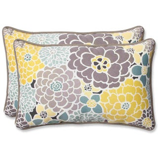 Pillow Perfect 'Full Bloom' Rectangular Outdoor Throw Pillow (Set of 2)