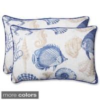 Pillow Perfect 'Sealife' Over-sized Rectangular Outdoor Throw Pillow (Set of 2)