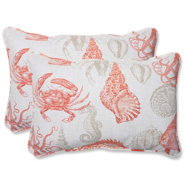 Elegant linen throw pillow cushion cover crab pillow double sides print outdoor