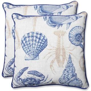 Pillow Perfect 'Sealife' 18.5-inch Outdoor Throw Pillow (Set of 2)