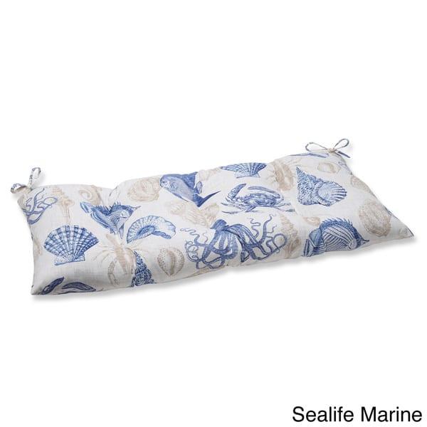Pillow Perfect Outdoor Indoor Sealife Marine Swing Bench Cushion