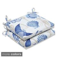 Pillow Perfect 'Sealife' Squared Corners Outdoor Seat Cushion (Set of 2)