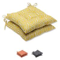 Pillow Perfect 'Starlet' Outdoor Wrought Iron Seat Cushion (Set of 2)