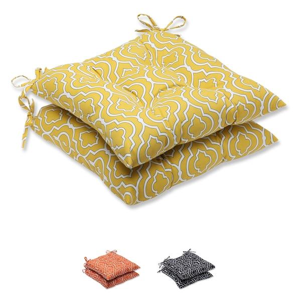 Shop Pillow Perfect Starlet Outdoor Wrought Iron Seat Cushion Set