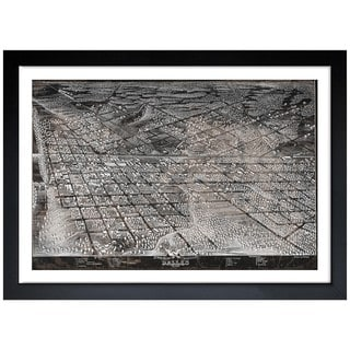 Oliver Gal 'Map of Dallas in 1872' Framed Art