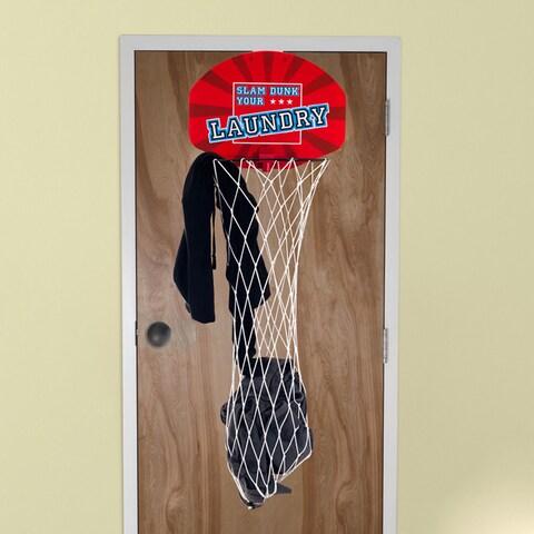 Slam Dunk Your Laundry Over the Door Basketball Hamper Net