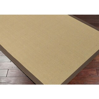 Hand Woven Contra Casual Bordered Area Rug (5' x 7'9)