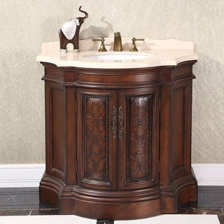 Shop Natural Stone Top 38-inch Single Sink Vintage Style ...