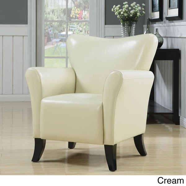 Shop Gleason Cream Accent Chair Free Shipping Today