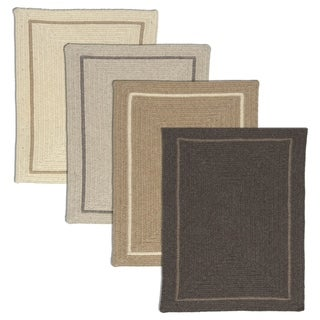 Natural Life Dye-free Border Wool Area Rug (8' x 10') - 8' x 10'