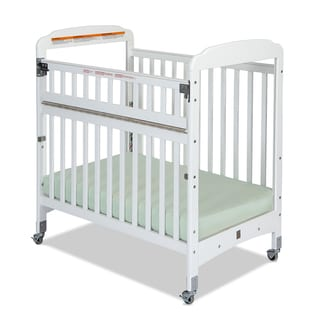 Bella Professional SafeAccess Clearview Compact Crib in White