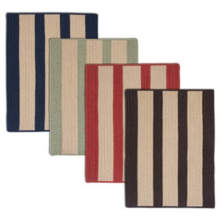 Light House Natural Stripe Reversible Outdoor Rug (2' x 3')