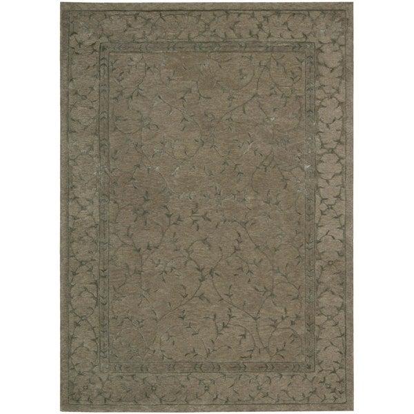 Modern Elegance Taupe Wool Area Rug - 5'6 x 7'5