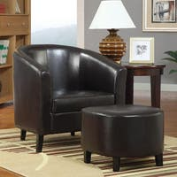 Jetison Brown Chair and Ottoman Set