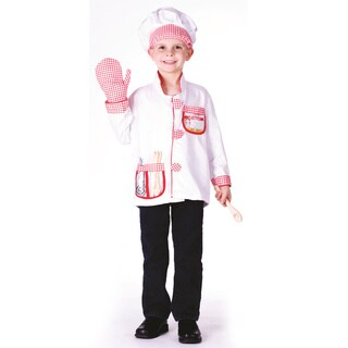 Chef Red/ White Role Play Dress Up Set