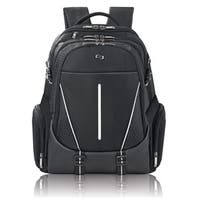 Solo 17.3-inch Laptop Black Hardshell Backpack with Side Pockets