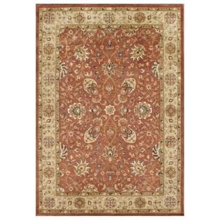 Alliyah Handmade 'Taj Mahal' Rust/ Honey Gold 100 Percent New Zealand Wool Rug (10' x 14')