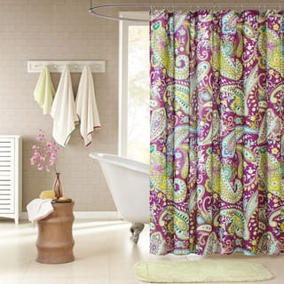 Intelligent Design Kayla Purple Paisley Shower Curtain|https://ak1.ostkcdn.com/images/products/8716947/P15965159.jpg?impolicy=medium