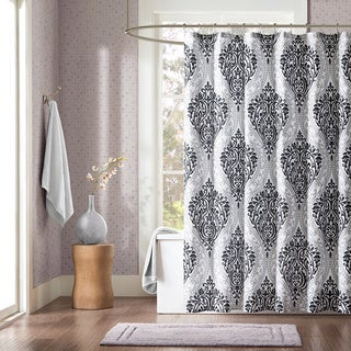 Intelligent Design Sydney Black Damsk Print Shower Curtain