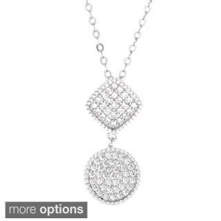 La Preciosa Sterling Silver Cubic Zirconia Pendant Necklace