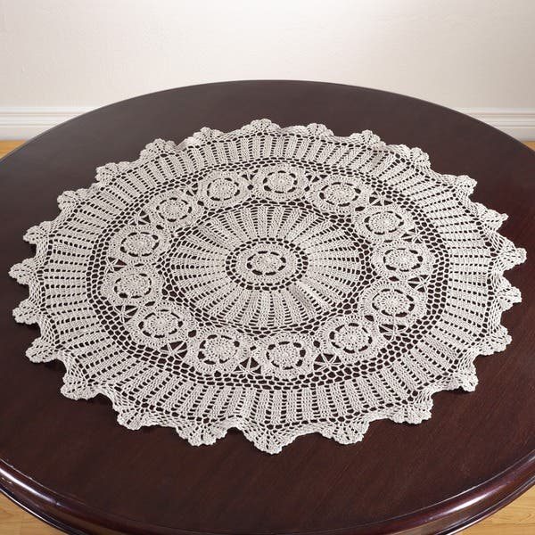 Shop Handmade Crochet Cotton Lace Table Linens Free Shipping On