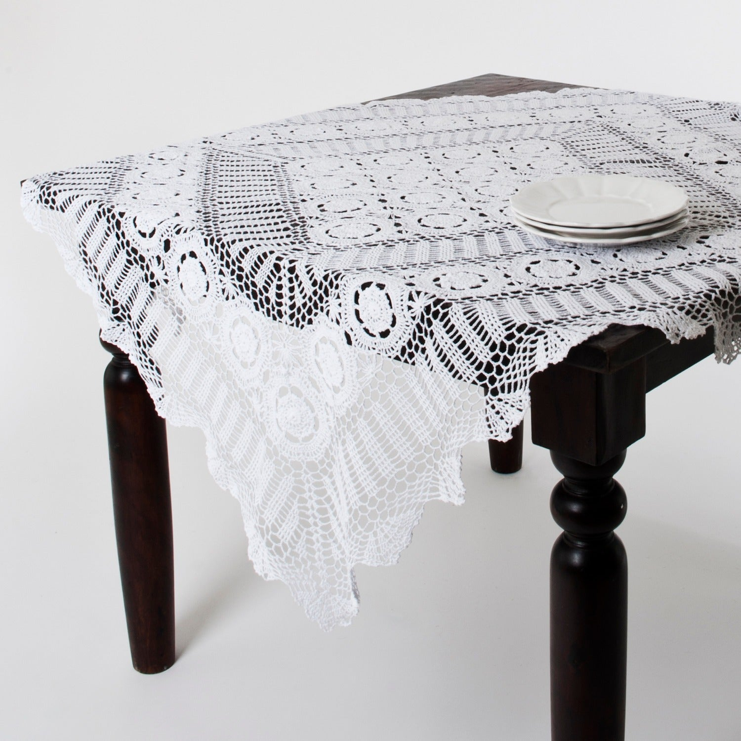 Shop Handmade Crochet Cotton Lace Table Linens   Free Shipping On Orders  Over $45   Overstock   8718788