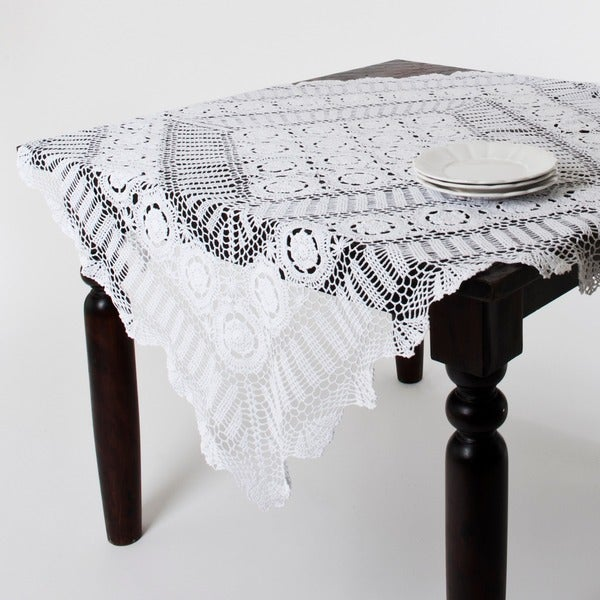 Handmade Crochet Lace Table Linens   Free Shipping On Orders Over $45    Overstock.com   15966972