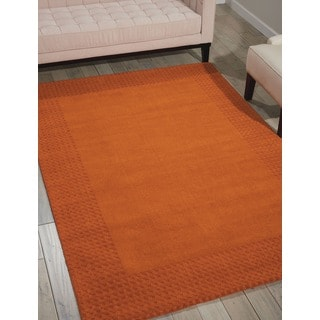 kathy ireland Cottage Grove Terracotta Area Rug by Nourison (5'3 x 7'5)