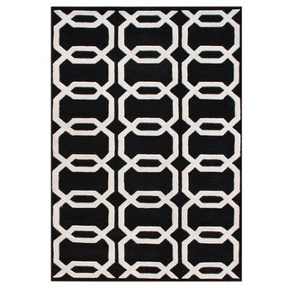 Alliyah Handmade Black New Zealand Blend Wool Rug (9' x 12')
