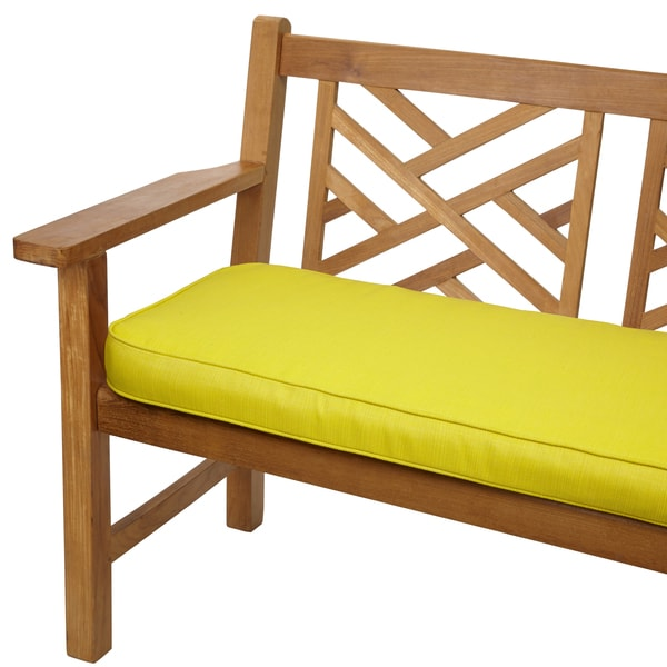 Shop Yellow Green 60 Inch Corded Indoor Outdoor Bench Cushion With