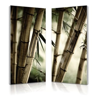 Baxton Studio Bamboo Stalks Mounted Photography Print Diptych