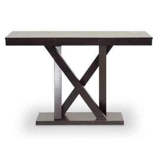 Baxton Studio Everdon Dark Brown Modern Console Table