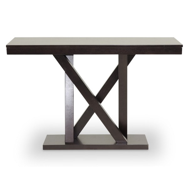 Baxton Studio Everdon Dark Brown Modern Console Table