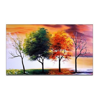 'Four Seasons' Hand-painted Oil on Canvas